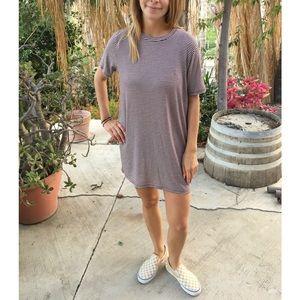 BNWT BRANDY MELVILLE STRIPED T-SHIRT DRESS
